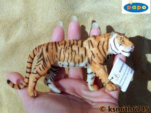NUOVO * Papo MASCHIO Tiger Giocattolo di plastiche solide Figura Wild Zoo Animale Gatto