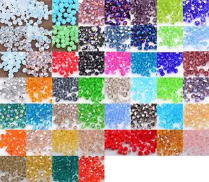 Glasschliffperlen-Crystal-facettiert-4mm-6mm-Bicone-Rhombe-Perlen-500-Stueck