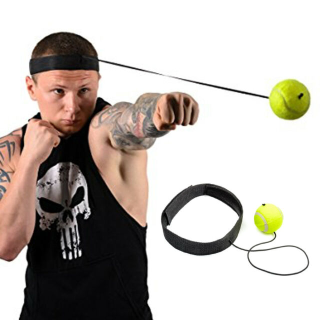 Boxing Ball Head Band Speed Training Punching Equipment Exercise Workout Gear