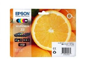 Original-Epson-33-schwarz-Tintenpatrone-5-Stueck-fuer-Epson-Premium-xp-635-XP-530-830