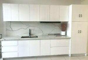 Kitchen Cabinets 3600 Mm 2 Pack High Gloss White Finger Pull Soft Close Ebay