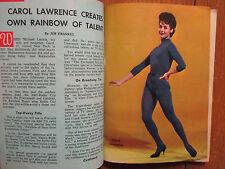 April 15, 1962 Detroit News TV Maga(CAROL LAWRENCE/ERNEST BORGNINE/ROBERT GOULET
