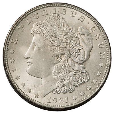 1921-S $1 Morgan 90% Silver Dollar GEM BU Brilliant Uncirculated SKU53159