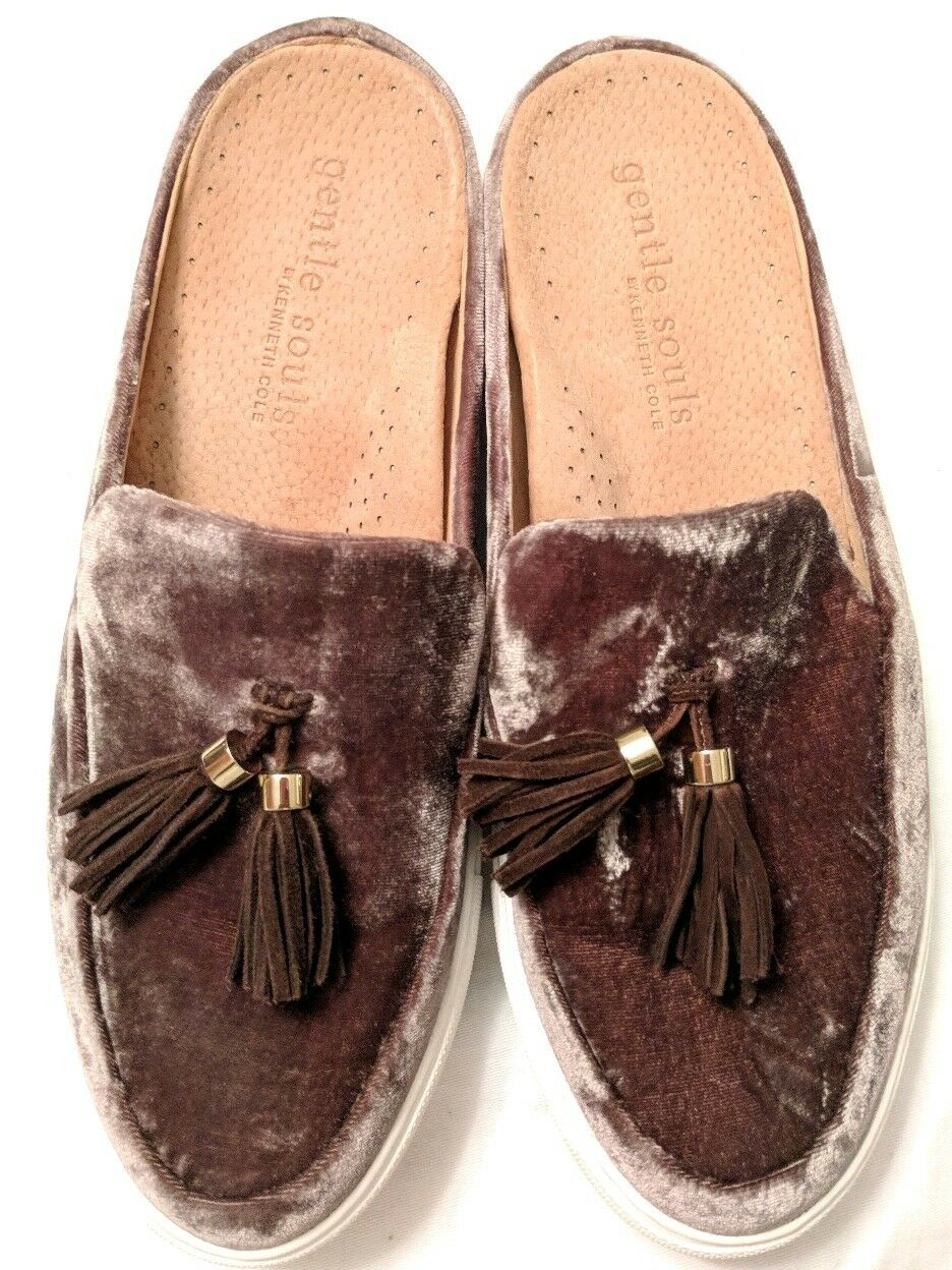 2B11 Gentle Souls Rory Tassel Mules Slider Round Toe Fashion Damens Schuhes Sz.9.5M
