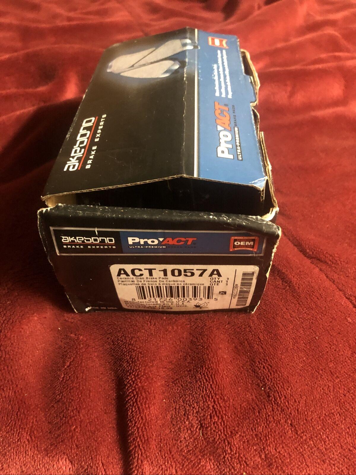 Rr Ceramic Brake Pads  Akebono  ACT1057A