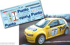 Decal 1:43 Sergio Vallejo FIAT PUNTO S1600 Rally Canarias El Corte Ingles 2003