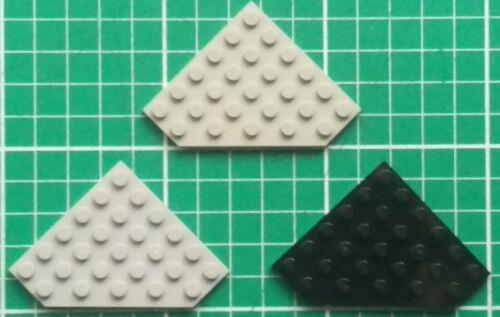 LEGO 6106 Piastra Cuneo 6 x 6 angolo di taglio x2