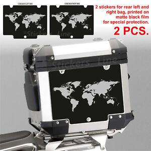 Adesivi BMW WORLD borse bauletto valigie R1200GS ADV Top Case bags stickers BLCK