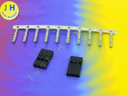 Header mit Crimpkontakten 2.54mm 3 polig way DUPONT #A1481 2x Buchse Stk