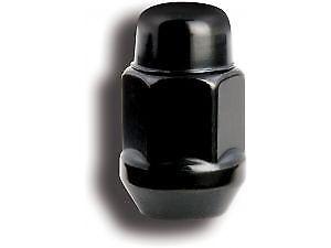 """JEEP 1/2""""  BULGE ACORN WHEEL NUT LUG NUTS x 8 IN BLACK FOR CJ WRANGLER CHEROKEE"""