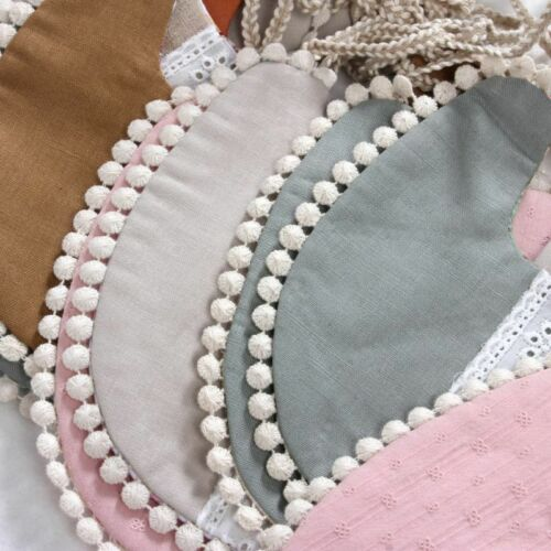 1Pcs Baby Tassel Towel Floral Newborn Double Side Bibs Boys Girls Props Bandana