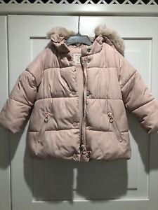 vendita calda online f640d 07248 Dettagli su Giubbotto Piumino Rosa Zara Baby Bambina 2-3 Anni
