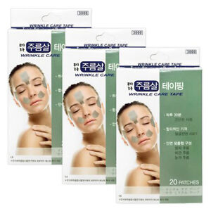 Korea-TERA-Wrinkle-Care-Tape-Frown-Lines-Eye-Rims-Laugh-Lines-Taping-60-Patches