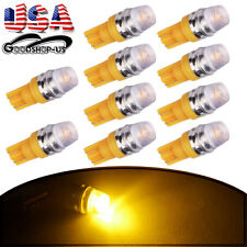 10X Amber Yellow High Power T10 Wedge 5730 Interior LED Lights Bulbs 192 168 1W