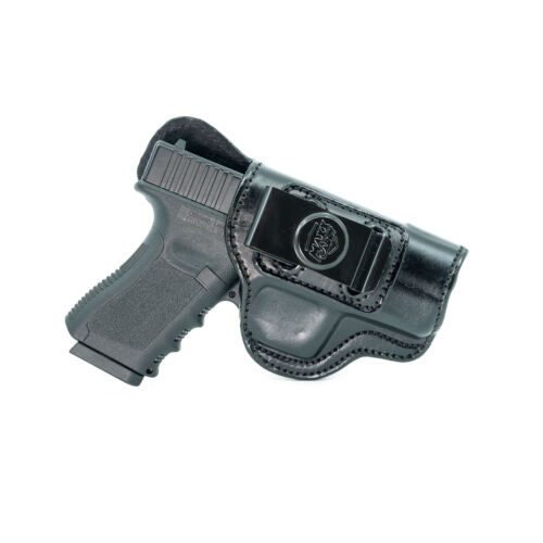 GUN HOLSTER FOR KIMBER TACTICAL ULTRA II IWB LEATHER HOLSTER CONCEAL CARRY.