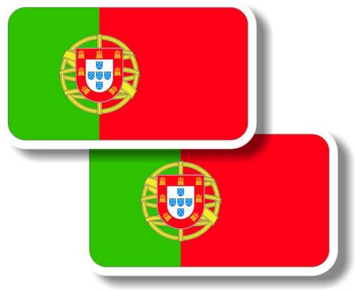 Vinyl sticker//decal Small 70mm Portugal flag pair