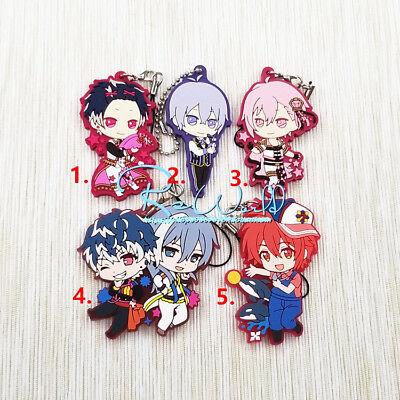 Idolish7 Anime Rubber Strap Keyring Keychain Phone Charm Bag Pendant DUO Ver