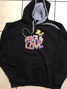 BNWT Mens/Ladies Snoopy Woodstock Peace & Love Hoody Sweatshirt Size Medium