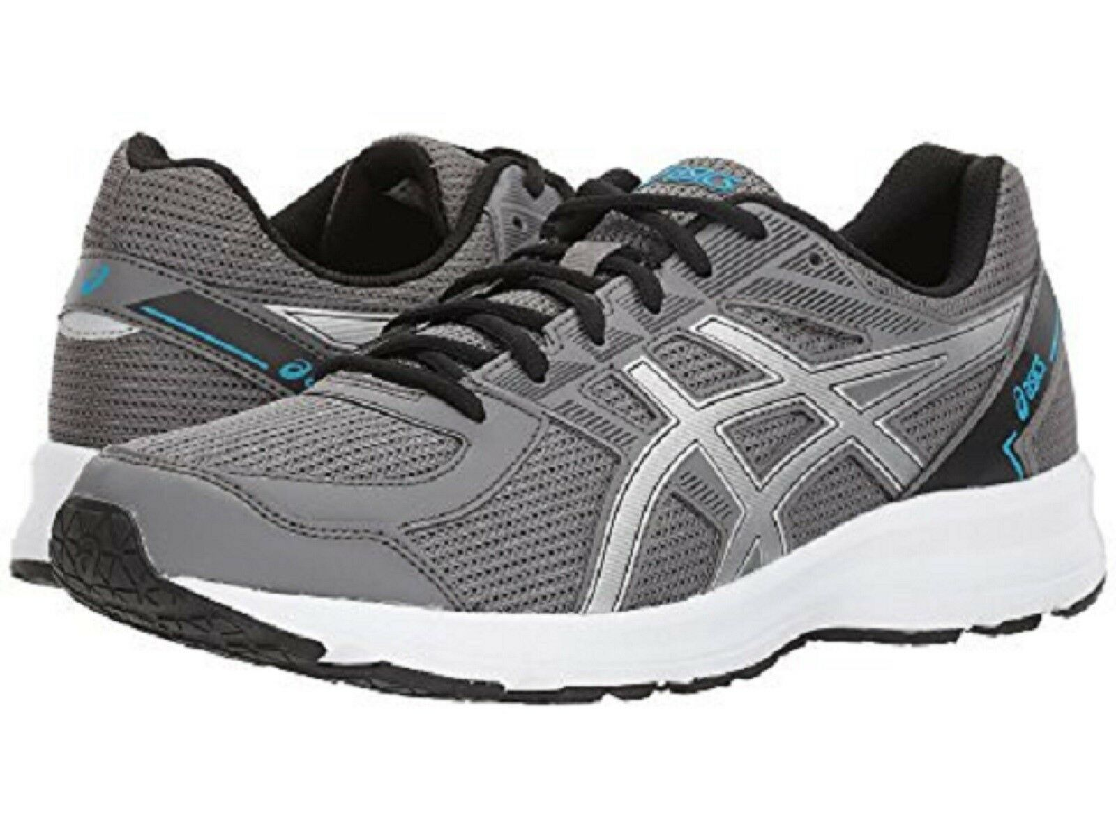 new product ee873 dc95c ASICS Men's 'JOLT' Running shoes CARBON SILVER blueE BLK WHTE Sz. 11.5 MED