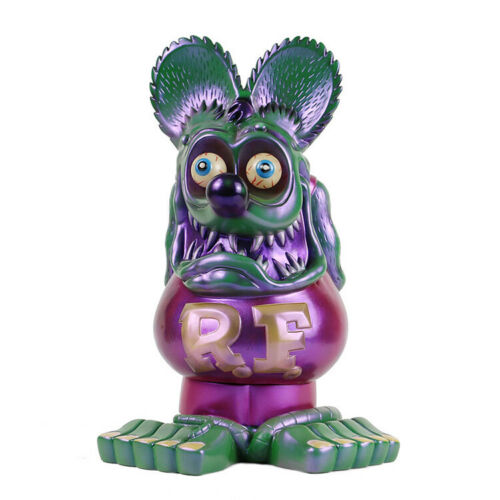"""13/"""" Purple Green RAT FINK Action Figure Big /""""Daddy/"""" Ed Roth Gift Toy"""