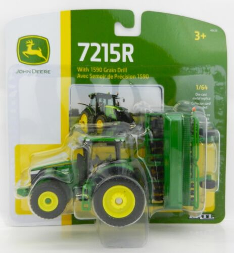 NEW ERTL 1:64 John Deere MODEL 7215R Tractor w//Duals /& 1590 GRAIN DRILL *NIP*