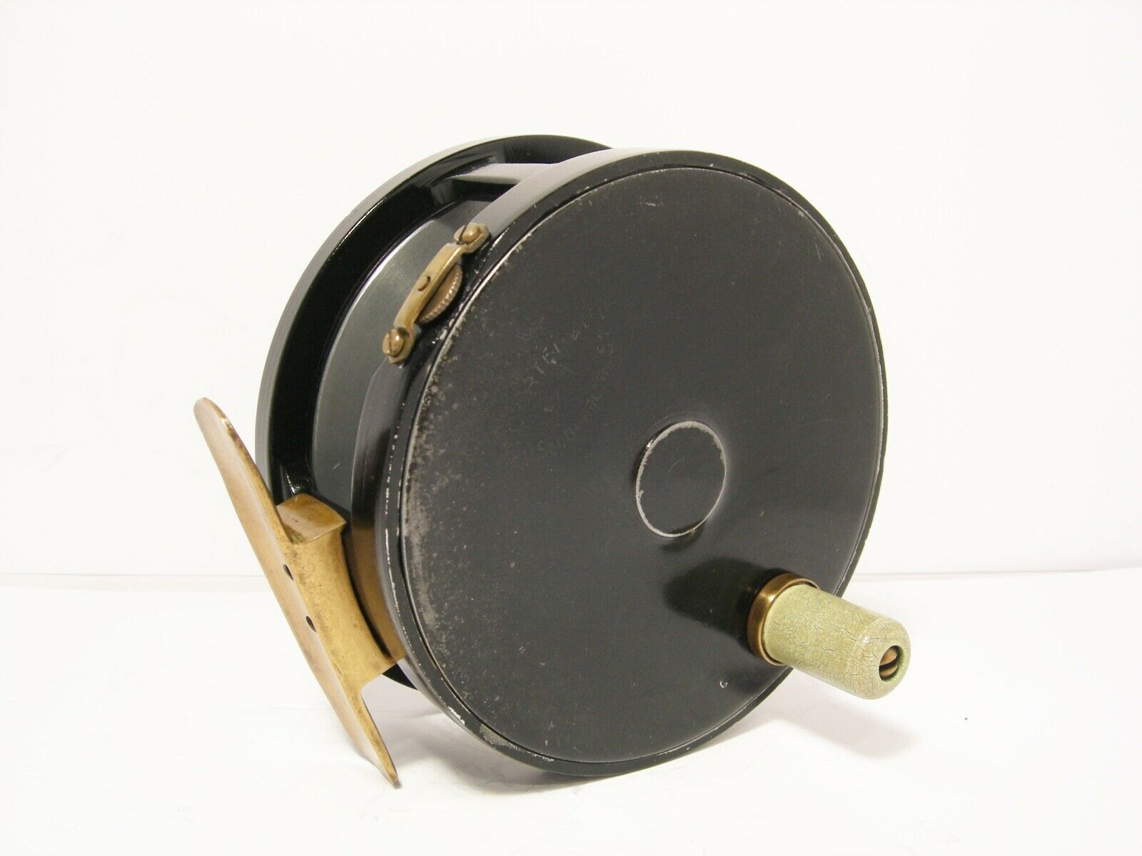 Vintage Carter & Co 4 1 4  Wide Drum Fly Fishing Reel - Perfect Pattern