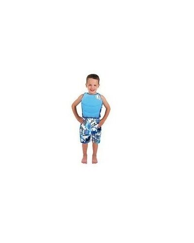 Blue Swim Floatation Trainer and Surf Shorts Ocean Pacific Boys 2-Piece Set