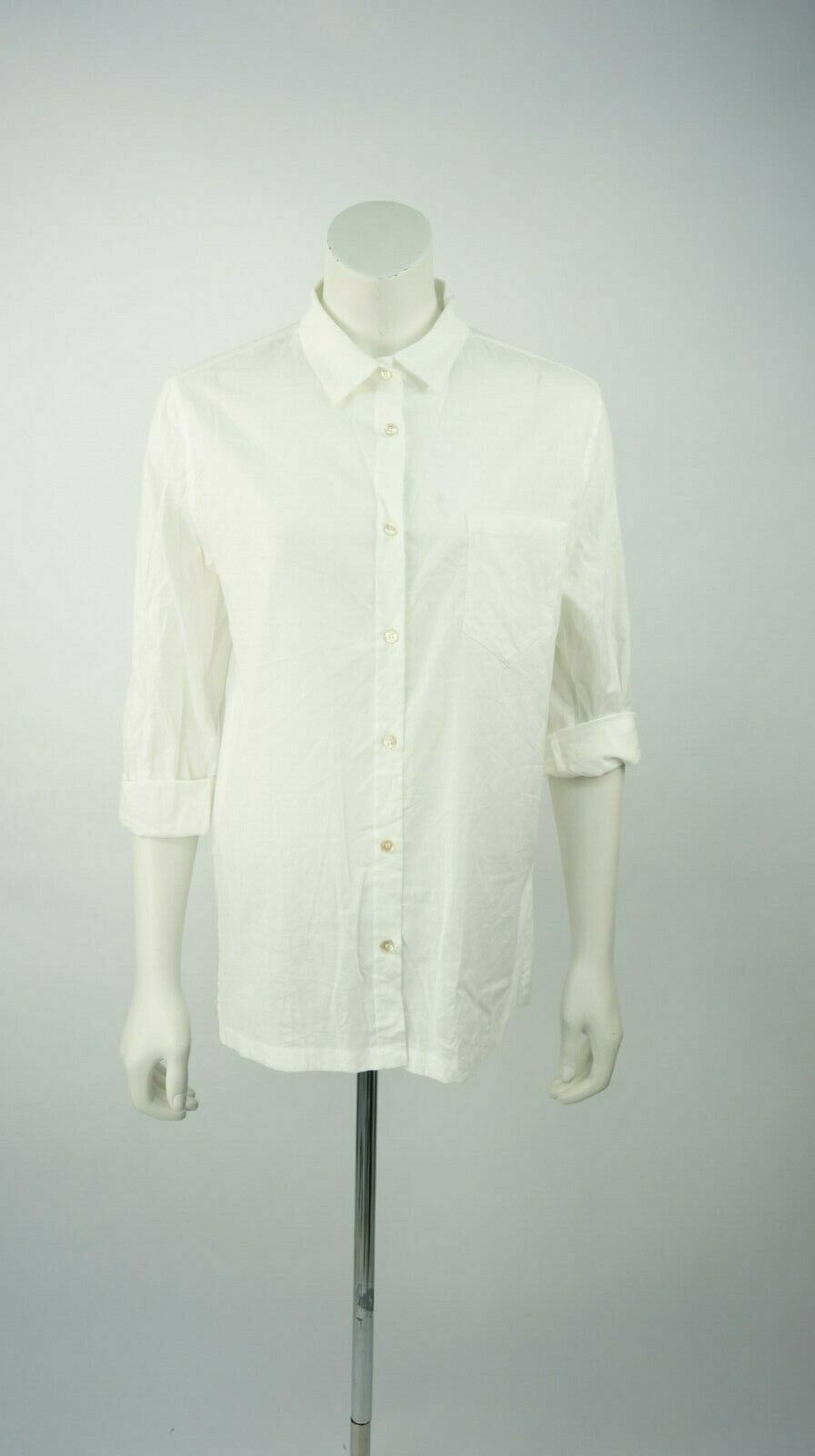 Isabel MARANT MARANT MARANT bianco cotone Roll Manica Blusa Top taglia 40FR Bnwts prezzo consigliato c62372