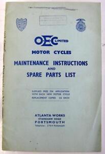 OEC-1955-Original-Motorcycle-Owners-Handbook-and-Parts-List