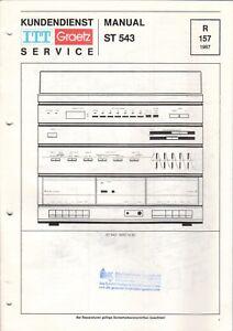 B6518 Aromatischer Geschmack Unter Der Voraussetzung Itt Graetz Service Manual Schaltplan St 543