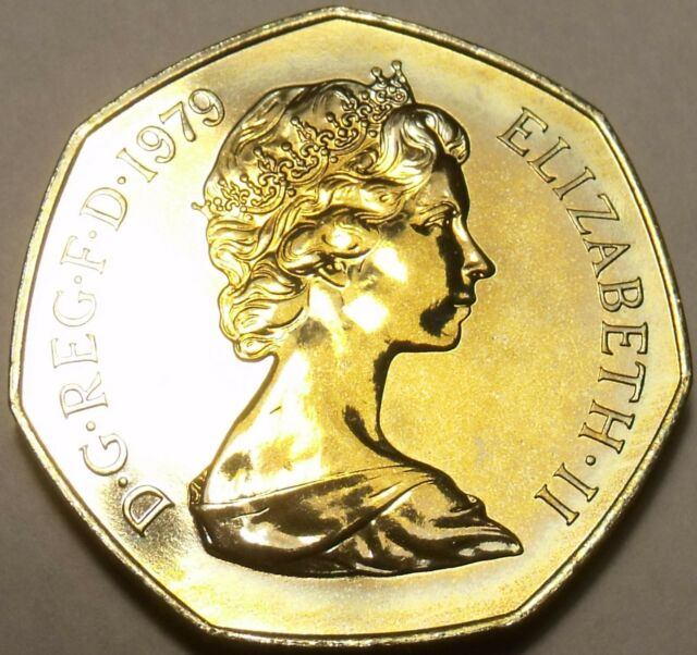 Proof Great Britain 1971 50 Pence~Britannia Seated Right~Free Shipping