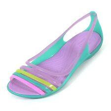 New! Crocs Women's Isabella Huarache Iris Flat Slip-on Shoes Size 9 (M) Croslite