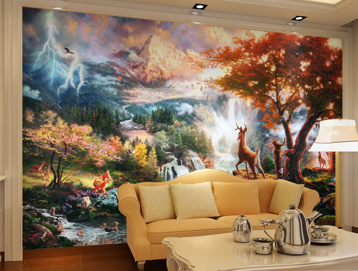 3D Mount Deer Deer Deer 462 Wallpaper Murals Wall Print Wallpaper Mural AJ WALL AU Kyra 3b446b