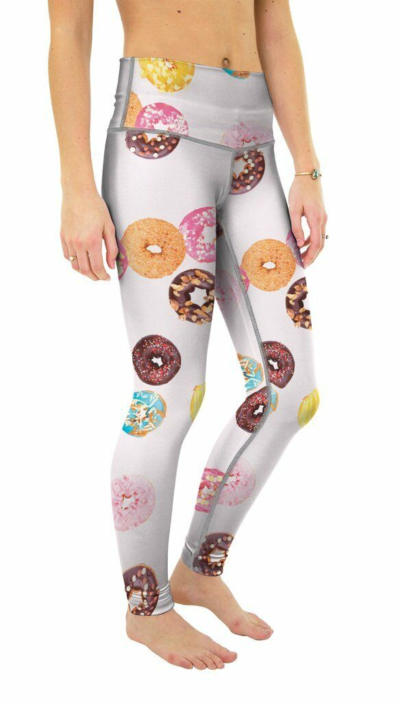 BRAND HAND NEW Beloved Damenschuhe YOGA PANTS DONUTS XSMALL-XLARGE HAND BRAND MADE IN THE USA de9615