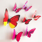 Mixed Rose DIY 3D Butterfly Wall Sticker Decal Home Decor Art Room Decoration