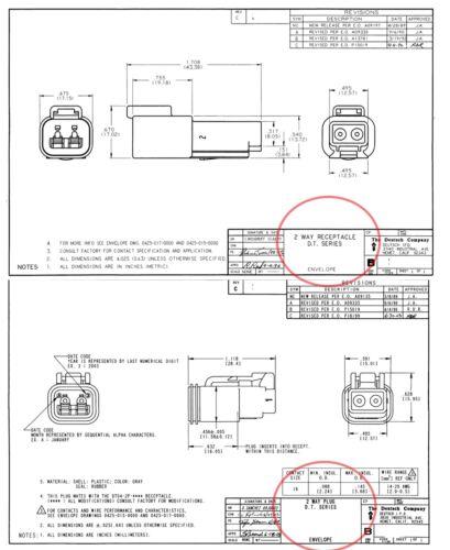 Deutsch 2-Pin SOLID Contact 14-16 18 AWG  Connector Set Pins /& Seals 3 Set