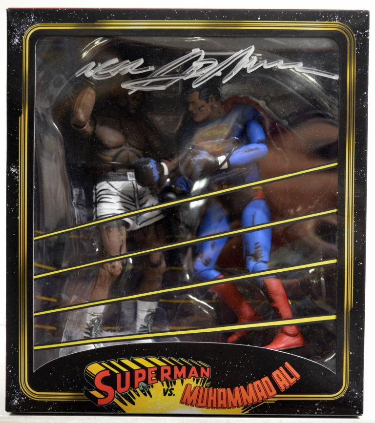 súperman Vs Muhammad Ali Figura De Acción 2 Paquete de Neal Adams 2014 NECA firmada a mano