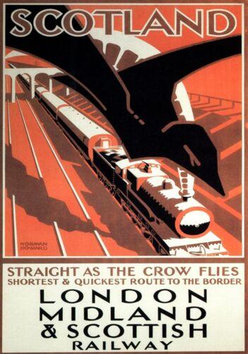 4097.London Midland /& Scottish railway.POSTER.Home School Office art decor