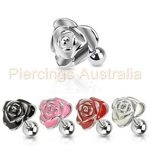 16G-Flower-Rose-Cartilage-Tragus-Barbell-Ear-Ring-Stud-Body-Piercing-Jewellery
