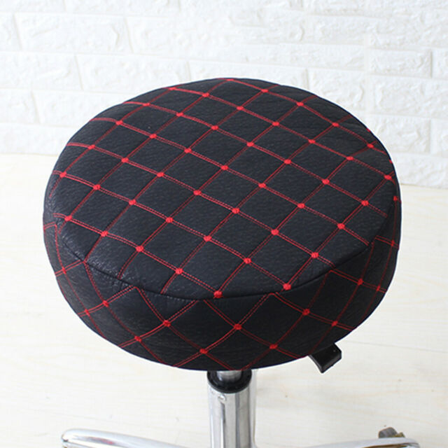 Bar Stool Covers Round Pad Chair Seat Slipcover Sleeve Protector Black 40cm