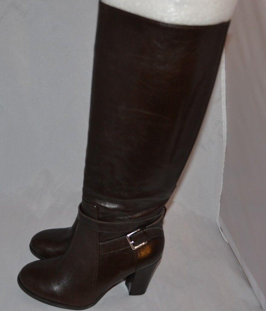 Marc Fisher Kessler Damenschuhe Leder Fashion Knee-High Stiefel elastic calf SZ 5.5