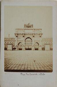 Arc Del Carosello Parigi Carte de visite CDV Foto Vintage Albumina c1860