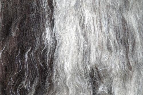 Badger mezcla de lana cardada Batt 10-100g Sin Teñir Natural Shetland Lana Fieltro o Spin
