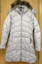 NEW Eddie Bauer Classic Womens Long Premium Down Parka Jacket XS Light Gray