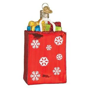 034-Holiday-Shopping-Bag-034-32396-X-Old-World-Christmas-Glass-Ornament-w-OWC-Box