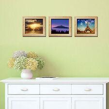 3pcs Photo Frame 3D Window View Removable Wall Sticker Art PVC Decal Decor Mural
