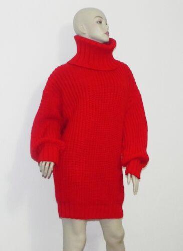 Peru Sweater Bright Size Nye One Red Turtleneck Kvinders Blend Alpaca wfx74IzqA
