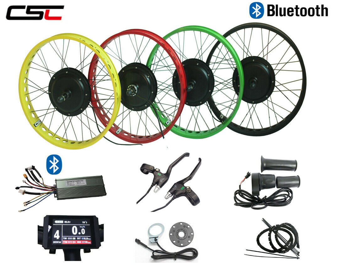 20  24  26   48v 750w Electric Fat Tire Bike kit with KT LCD 8 display +blueetooth  low prices