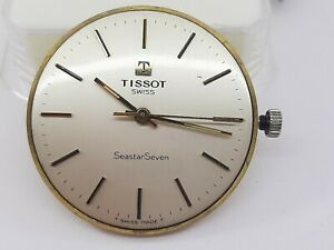TISSOT SEASTAR SEVEN DIAL & MOVEMENT MANUAL CAL. 2451 JEWELS 17 SWISS RUNNING