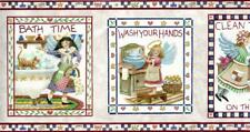 Wallpaper Border Life is Good Laundry and Bath Country Signs Black Trim